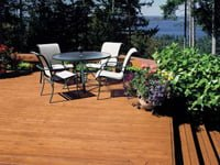 Deck stained with Flood stain.