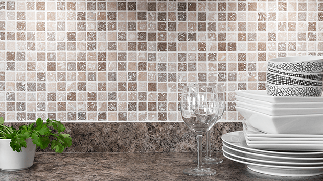 how to install a tile backsplash using a self adhesive mat