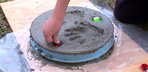 Making a personalized stepping stone.