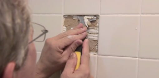 how to replace damaged shower surround tile