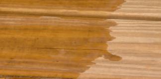 water on wood deck