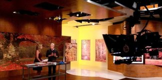 """Danny Lipford on the set with """"America's Morning Headquarters"""" host Stephanie Abrams."""