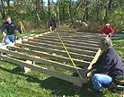 Building the shed's foundation