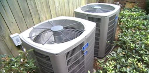 Central air conditioner condenser units