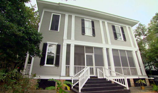 Completed two-story historic home addition.