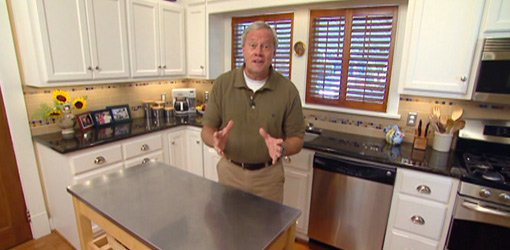 Danny Lipford in remodeled historic home kitchen.