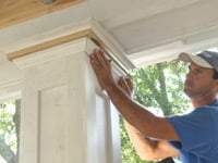 Adding crown molding to column capitals