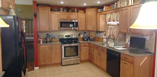 Kitchen after classic kitchen remodel.