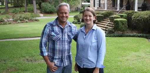 Danny Lipford with lawn and garden writer Julie Day Jones