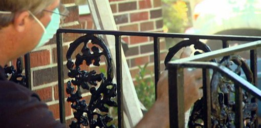 Painting wrought iron railings