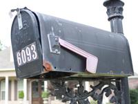 Mailbox before repair.