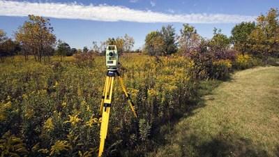 Survey land