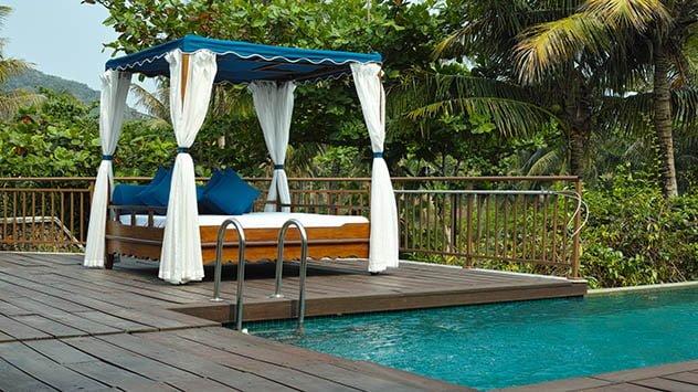 Cabana beside pool