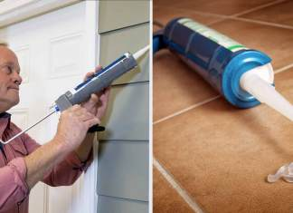 Danny caulking a home before fall and winter arrive