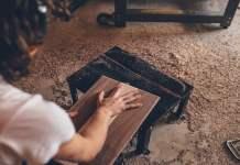 Sawdust fallen from wood
