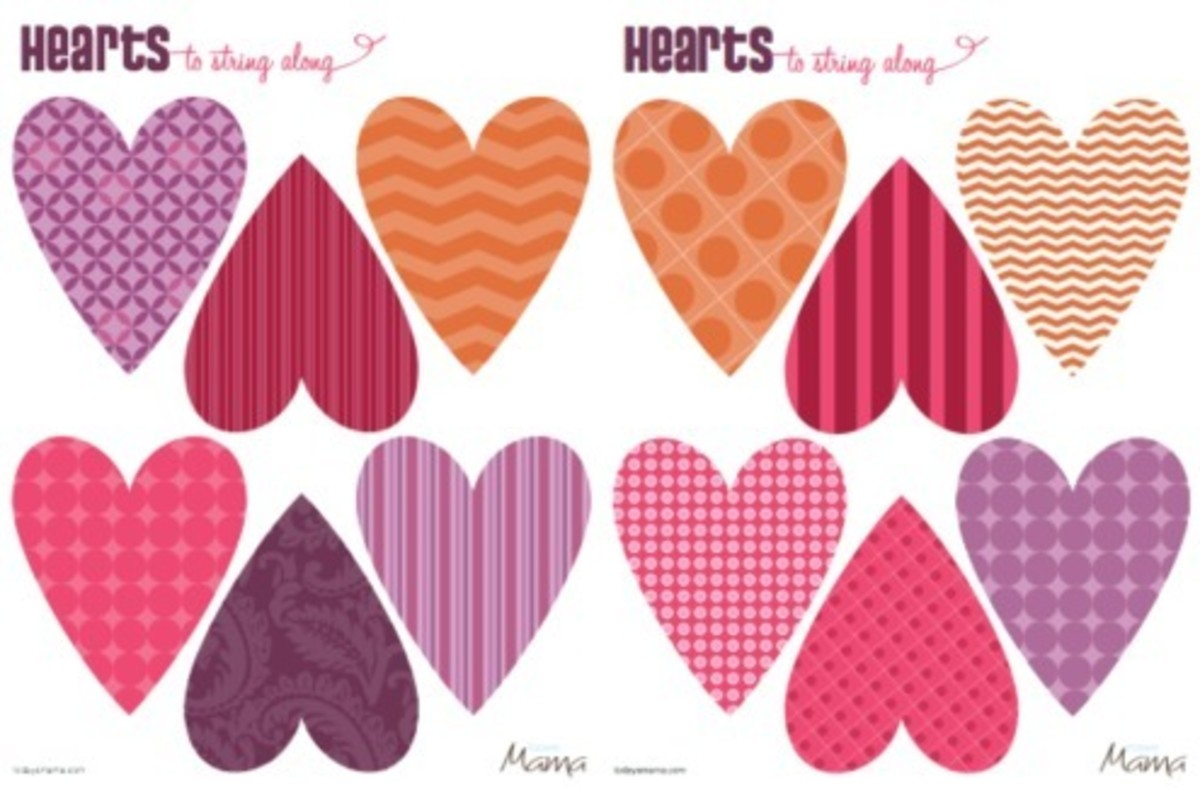 Heart Printable Template For Valentine S Day
