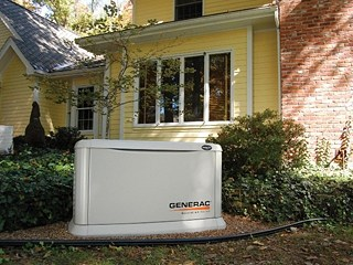 A Generac home standby generator