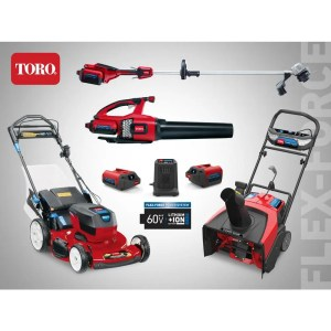 Available to order now at The Home Depot: Toro 60V Flex-Force Power System Collection