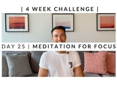 Home Workout Challenge for body & mind: meditation for focus – week four, day 25