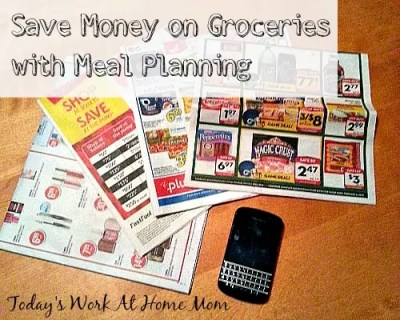Once a week meal planning to save on groceries!