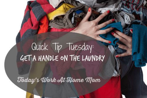 quick tip Tuesday: get a handle on the laundry