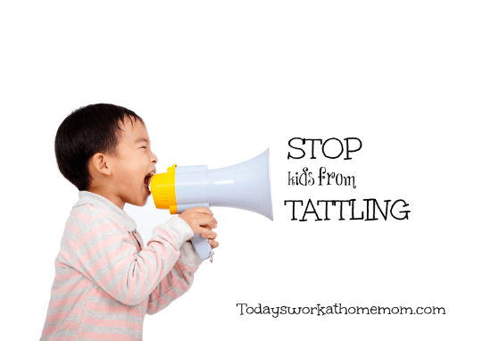 How to stop kids from tattling
