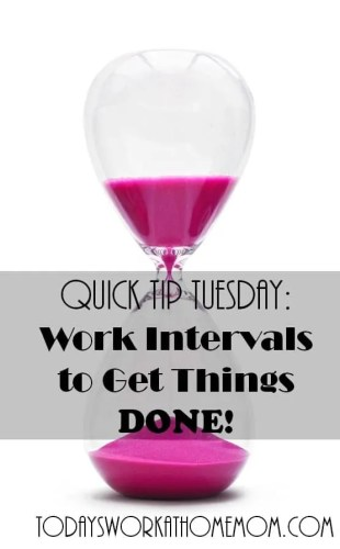 Work intervals to get things done! #wahm