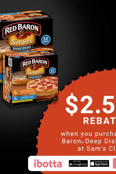 Grab Red Baron Deep Dish Singles at Sam's Club and Earn with Ibotta