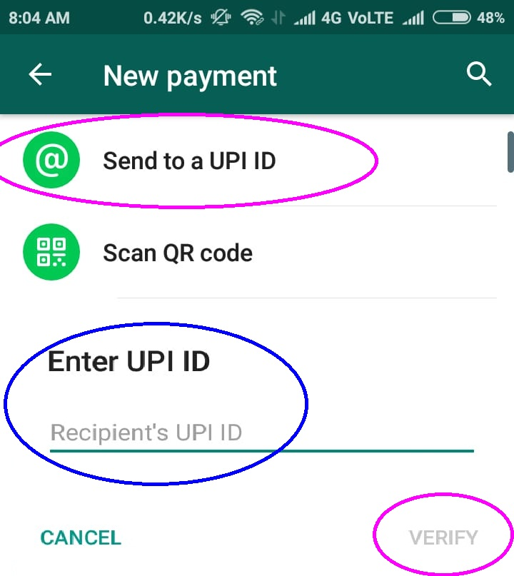 Whatsapp – UPI Payments Digital Wallet, Recharges & Money Transfer By Whatsapp Payments