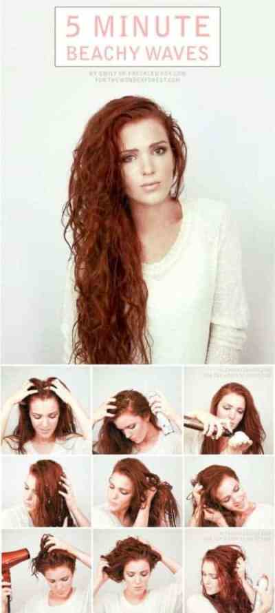How to create the perfect beach wave curly hair effortless long hairstyle for date ngiht