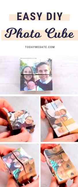 easy diy photo cube diy christmas gift ideas for him todaywedatecom 1 - Diy Christmas Gifts For Guys