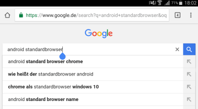 android standardbrowser