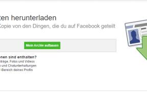 facebook daten herunterladen