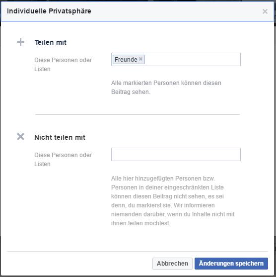 facebook freunde verbergen benutzerdefiniert