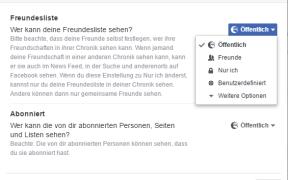 facebook freunde verbergen