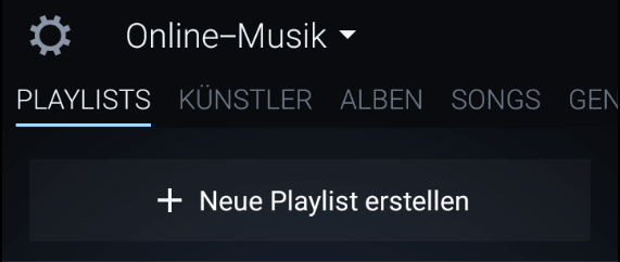 amazon music app neue playlist erstellen