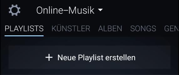 amazon music app neue playlist erstellen