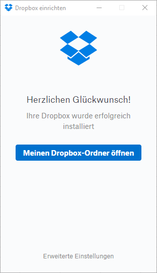 dropbox windows einrichten