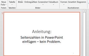 powerpoint seitenzahl einfügen