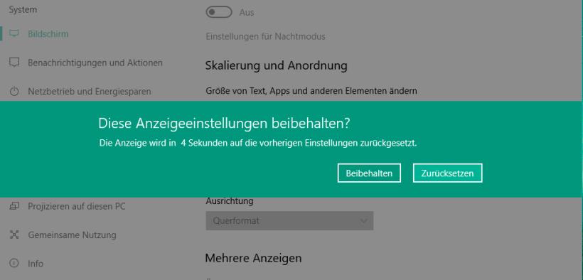 windows 10 anzeige ändern