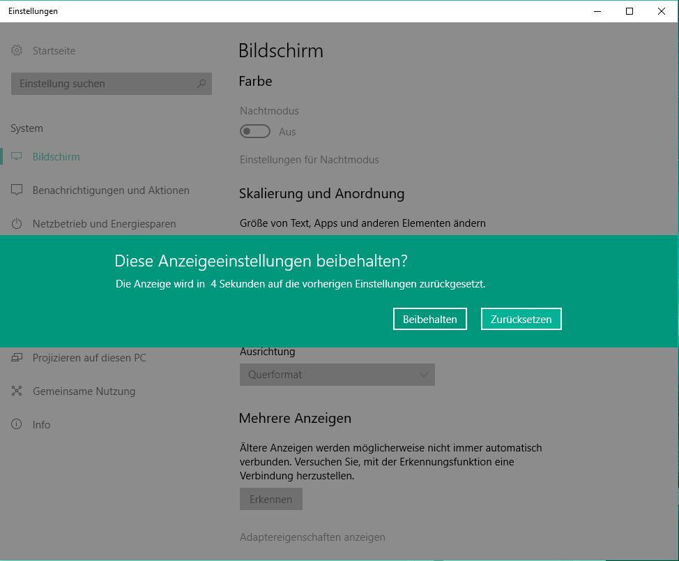 windows auflösung ändern