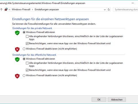 windows 10 firewall ausschalten