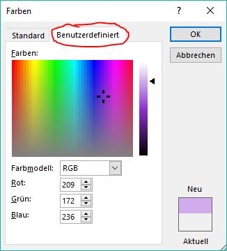 word hintergrundfarbe festlegen individuell