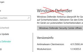 windows 10 defender deaktivieren