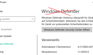 windows 10 defender deaktivieren
