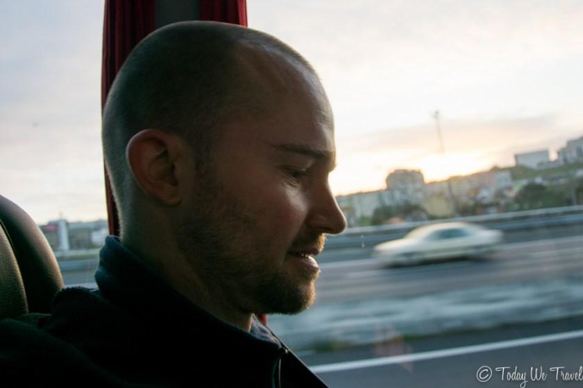 Busfahrt Lissabon
