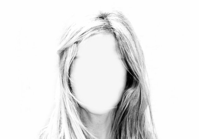 Woman no identity no face