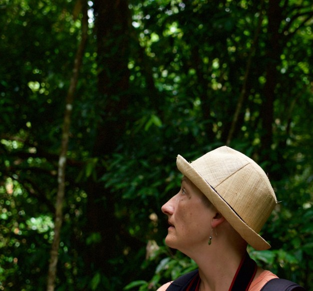Beth looking into the rainforest
