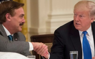 """There is still hope"". Mike Lindell gives an exclusive interview from Trump tower."