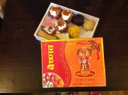 Indian sweets down near the Nepal / Indian border. Look as good as they tasted.